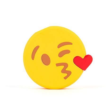 emoji blowing kisses portable charger power bank  mah