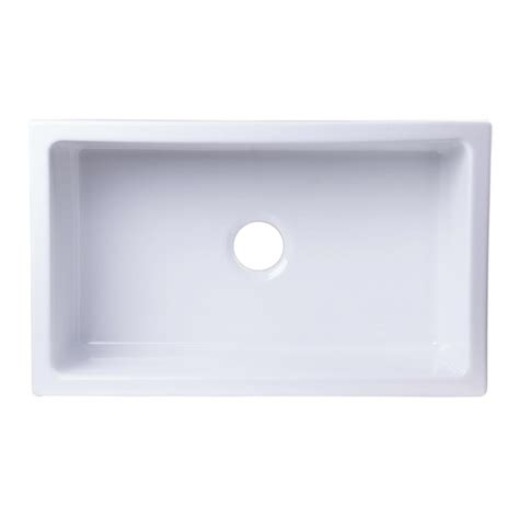 white single bowl kitchen sink alfi brand undermount fireclay 30 in single basin kitchen