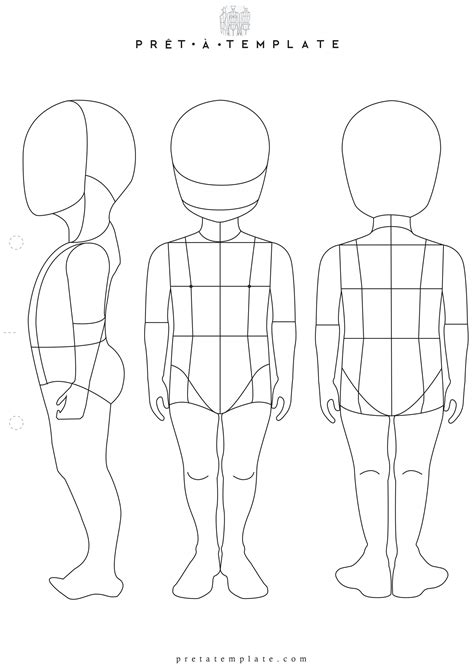Child Template by Child Figure Fashion Template D I Y Your Own