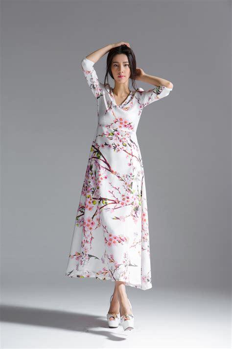 Dress Dress Korea Baju Korea Dress Muslim Maxi Dress dress motif floral maxi dress korea dress cantik