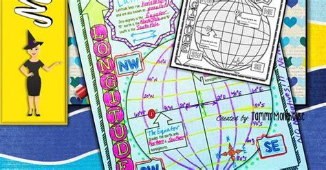 Latitude Longitude Doodle Notes Grid System