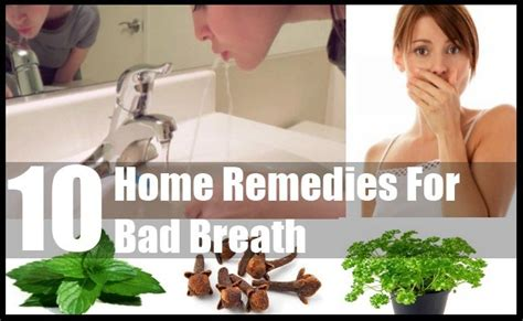 10 home remedies for bad breath treatments