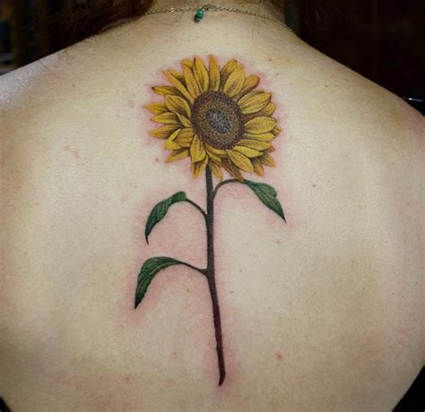 sunflower back piece best tattoo design ideas
