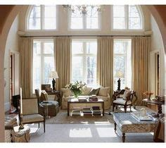 High Window Curtains High Ceiling Window Treatment On Pinterest High Ceilings Living Room Designs And Window