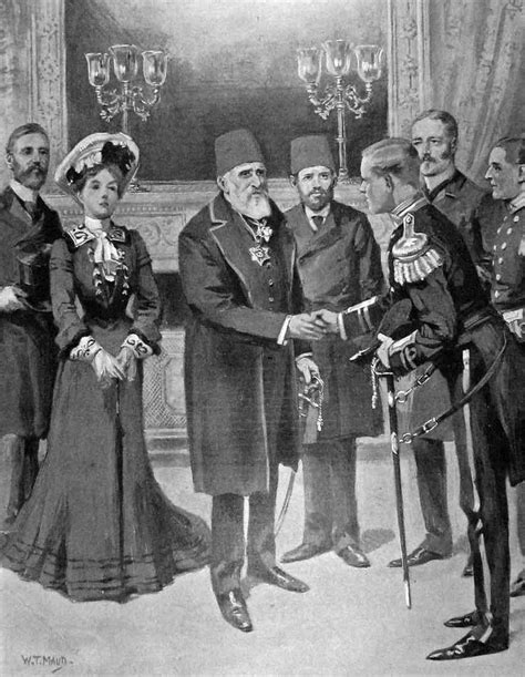Ottoman Dynasty Founder Reception Of Naval Officers By Sultan Abdulhamid Ii Istanbul 1902 Ottoman Empire
