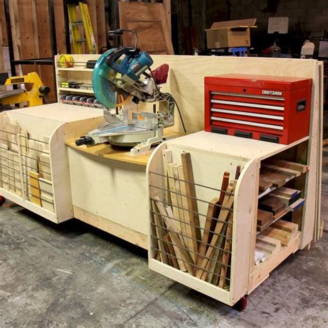 diy miter saw bench workbenches and tool carts