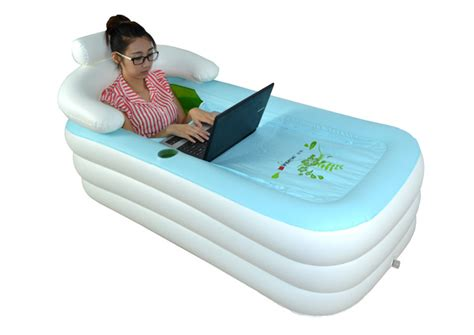 blow up bathtub bathe anywhere with the portable inflatable bathtub