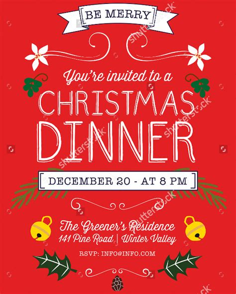 30 Christmas Flyer Templates Psd Vector Format Download Free Premium Templates Dinner Poster Template
