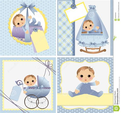 baby announcement photo card templates free templates for baby card stock vector image 26028346