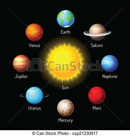 imagenes extrañas de los planetas vector clip art de planetas iconos vector conjunto de