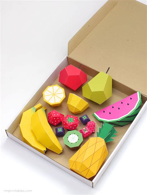 play fruit paper toys by mr printables jelanie