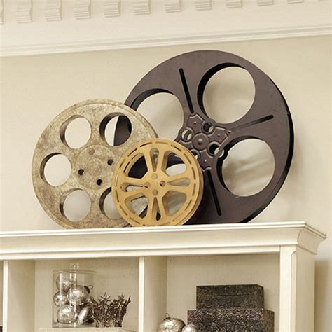 home movie theater decor ideas movie reels for movie wall art design ideas interior plaques film reel wall art