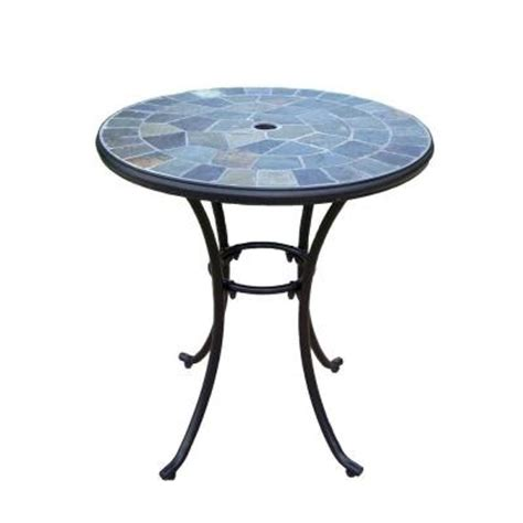 home depot patio table oakland living 26 in patio bistro table