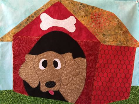 pattern for dog house dog house applique quilt pattern by quilt karma craftsy