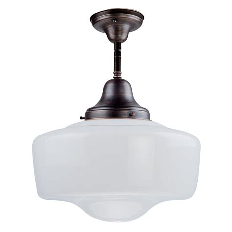 Schoolhouse Ceiling Lights Dvi Dvp7511 Schoolhouse Semi Flush Ceiling Light Lowe S