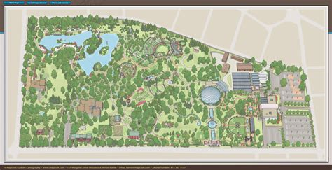 Botanical Garden Directions Missouri Botanical Garden Map Mapcraft Custom