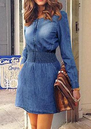 Dress Yuyu Mini Dress Denim denim a line solid sleeve mini dress fairyseason