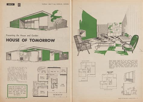 house designs and floor plans nsw post war sydney home plans 1945 to 1959 sydney living