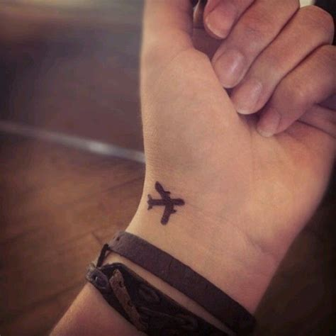 small plane tattoo travel wrist size location only inky dink