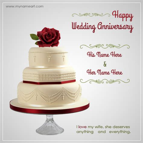 Wedding Anniversary Wishes And Greetings by Writing Name On Wedding Anniversary Wishes Greeting Card