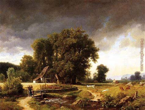landscape painting albert bierstadt westphalian landscape painting anysize 50