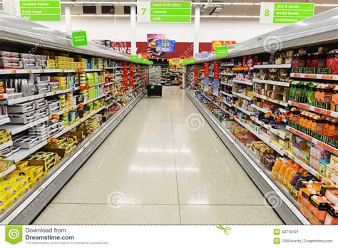supermarket store layout uk supermarket aisle view editorial photo image 43710101
