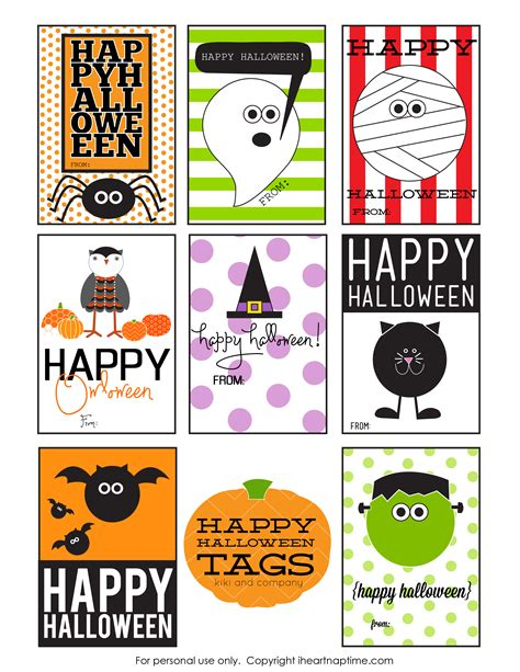 printable halloween tags happy halloween tags free printable i heart nap time