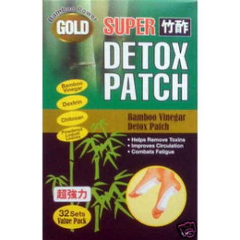 Detox Patches by Bamboo Vinegar Detox Patch Gold 32 Patches