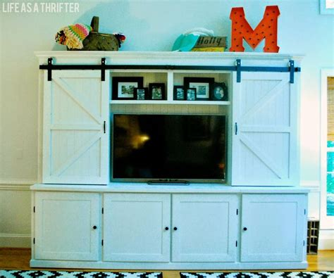 tv cabinets with doors to hide tv as a thrifter awesome cabinet with sliding barn