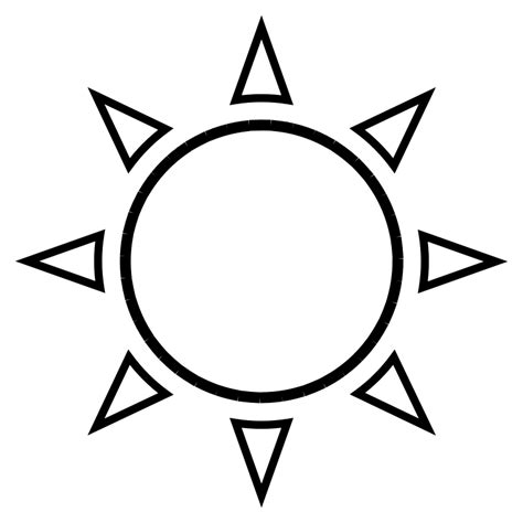 template of the sun sun outline free vector 4vector