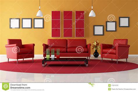 Rotes Wohnzimmer by Rotes Und Orange Wohnzimmer Lizenzfreies Stockfoto Bild