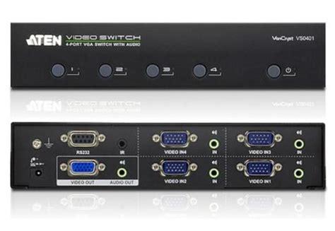 Murah Kvm Aten 4 Port Vga Audio Switch Vs0401 aten 4 port vga switch with audio vs0401 toko sigma