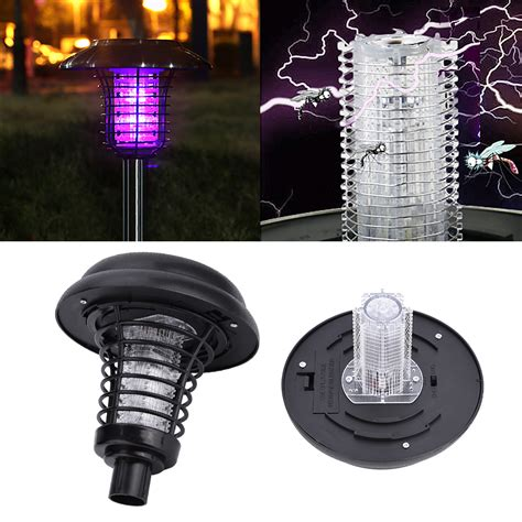 led outdoor lights and bugs solar power insect trap mosquito bugs killer led light