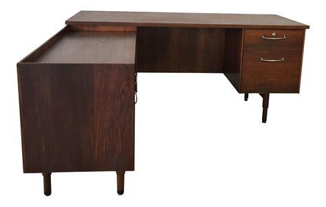vintage l shaped desk vintage executive l shaped desk chairish