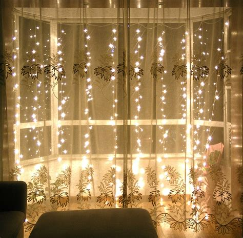 decorative lights for home lebefe 9 84ft x 9 84ft 300 led icicle curtain lights