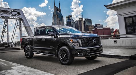 nissan titan 2018 2018 nissan frontier and titan get midnight editions the