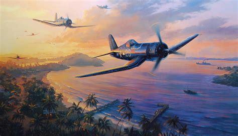 painting airplane f4u corsair wallpapers wallpaper cave