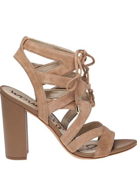 sandal camel sam edelman yardley camel suede lace up sandal in