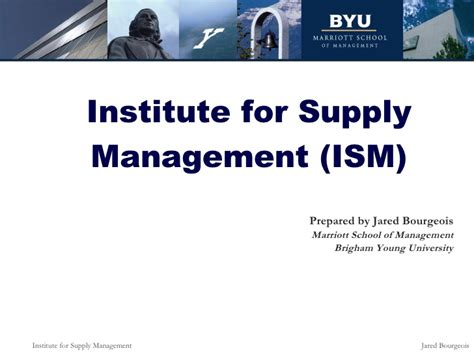 Ism Mba by Institute For Supply Management