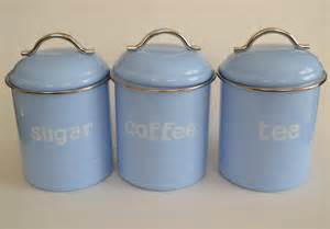 kitchen tea coffee sugar canisters enamel retro kitchen canisters assorted colours tea coffee sugar set of 3 new ebay