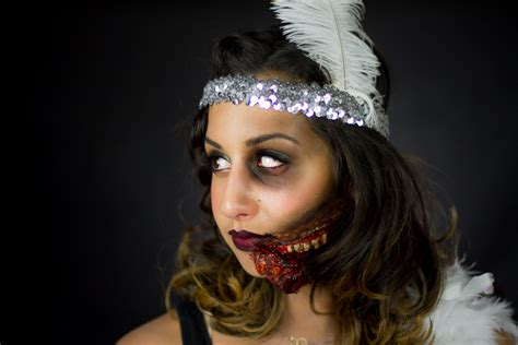 zombie flapper tutorial 1920s flapper zombie flapper makeup tutorial stephanie