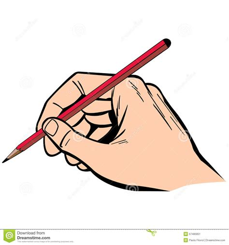 draw clipart writing illustration with pencil stock vector image