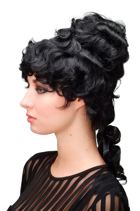colonial hairstyles for women wig quality baroque colonial bouffant beehive black l