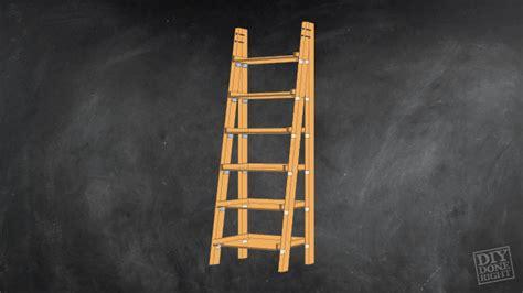 leaning ladder bookshelf diy