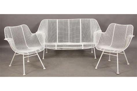 wire outdoor furniture 3 pc woodard wire garden settee chairs