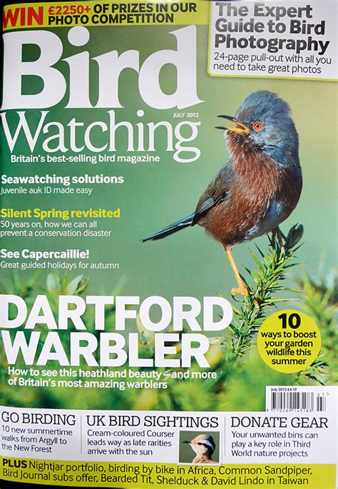 bird watching magazine front cover craig jones wildlife