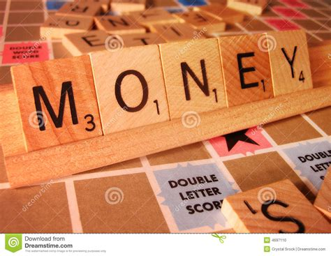 is el a word in scrabble business concept money scrabble word stock photo image