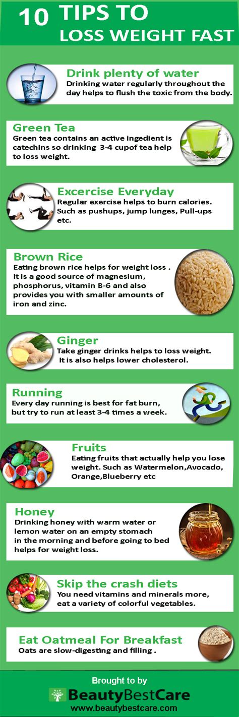 Free Weight Loss Tip Leave The by 17 Weight Loss Tips For Infographic Beautybestcare