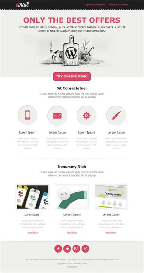 Download 60 Free Email Templates Xdesigns Html Template For Email Newsletter