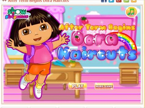dora hairstyles games dora hair cutting games for girls free kids games hair